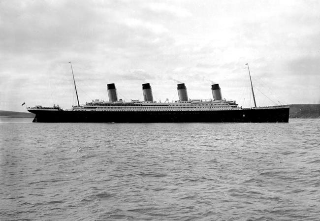 RMS Titanic, em abril de 1912