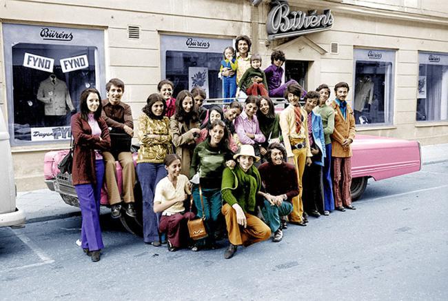 Família Bin Laden em férias em Falun, na Suécia, em 1971