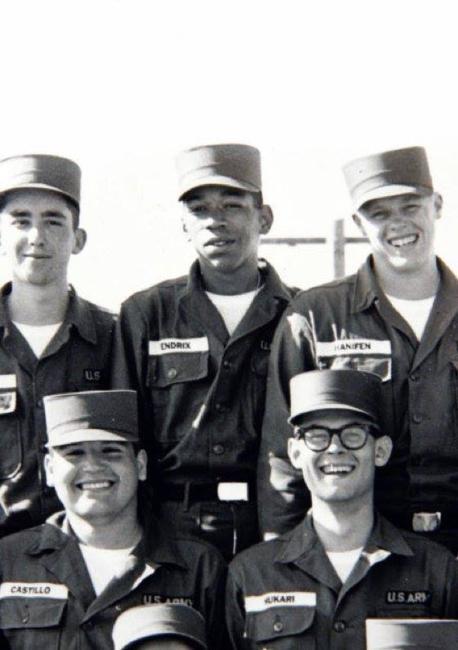 Jimi Hendrix quando serviu ao exército em 1961