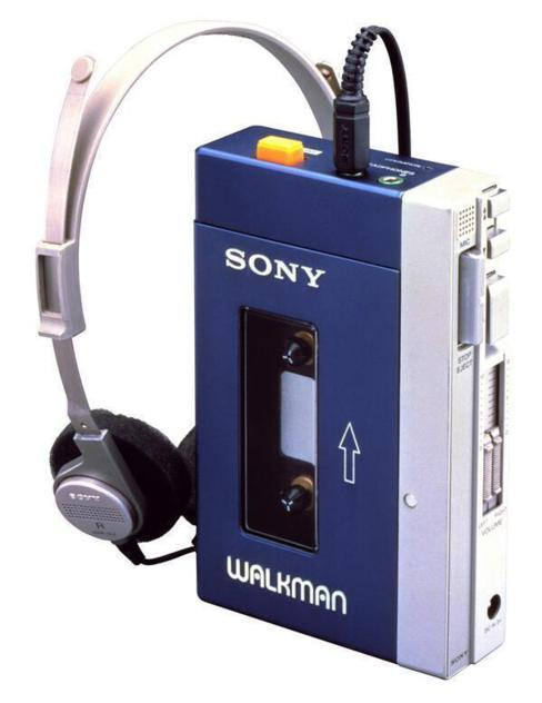 O walkman original da Sony, de 1980.