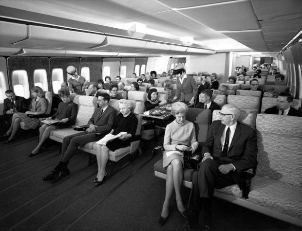 Classe econômica da Pan-AM nos anos 60