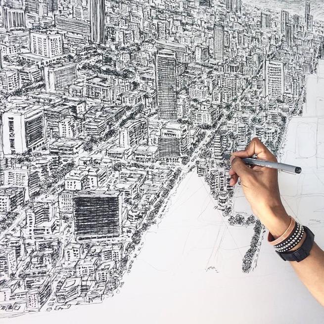 Stephen Wilshire, o artista que desenha paisagens urbanas usando apenas sua memória fotográfica