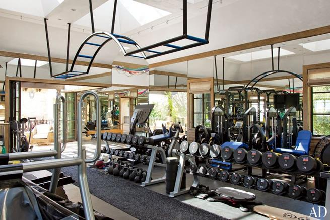 Esta é a academia da casa de Tom Brady e Gisele Bundchen