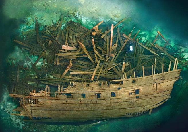 Navio sueco que naufragou há 500 anos