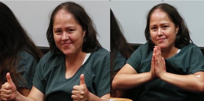 Esta mulher esfaqueou sua família inteira, 48 horas antes dessa foto, matando todos os membros, exceto uma garota de 9 anos que sobreviveu às feridas