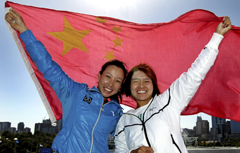 As chinesas Zheng Zie e Li Na
