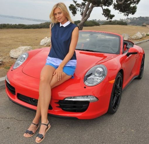 Maria Sharapova At Porsche Shooting In California