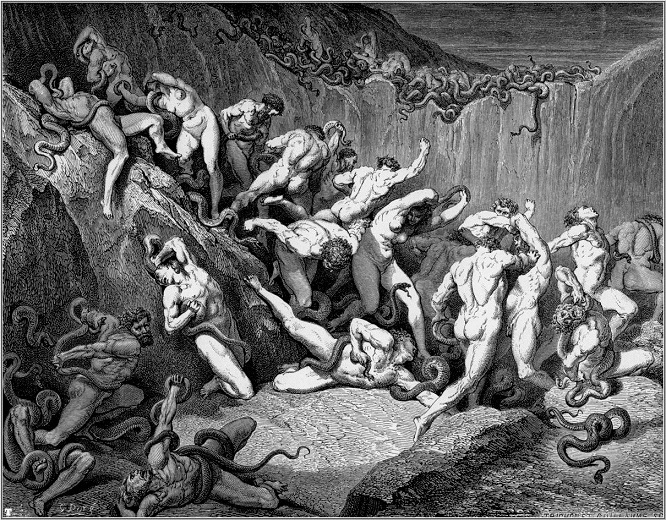 O Inferno, segundo Gustave Doré para a obra de Dante: para torturadores e torturados, o inferno eram o porões