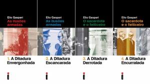 Os quatro livros da série do jornalista Elio Gaspari sobre a ditadura militar, relançados este ano