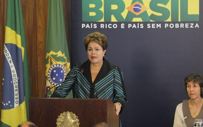 A presidente Dilma Rousseff na cerimônia de entrega do relatório final da Comissão Nacional da Verdade. Foto: Alan Sampaio/iG Brasília