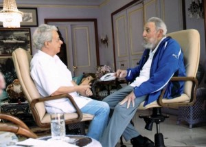 Frei Betto e Fidel Castro em encontro este ano em Havana. Foto: CubaDebate