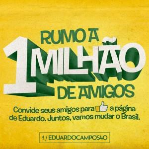 Campanha para chegar a 1 milhão de curtidas. Foto: Reprodução Facebook