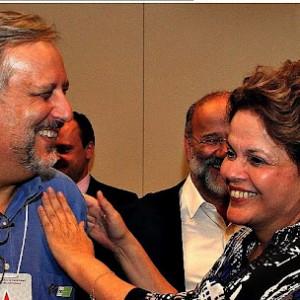 O ministro Ricardo Berzoini e a presidente Dilma Rousseff (Foto: Reprodução/Linkedin)
