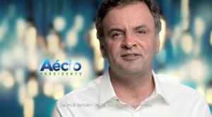 Estreia do presidenciável Aécio Neves (PSDB) no horário eleitoral gratuito, em 19 de agosto. (Foto: Reprodução)