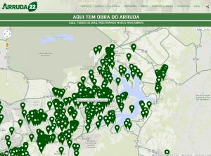 Candidato ao governo do Distrito Federal, José Roberto Arruda (PR-DF) lança mapa de obras de sua gestão. (Reprodução)