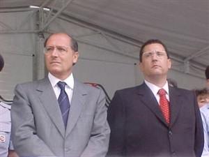 Geraldo Alckmin e Saulo de Castro (Foto: Divulgação/SSP-SP)