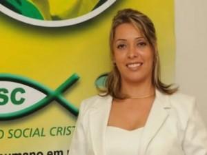Presidente do PSC Mulher, Denise Assumpção.