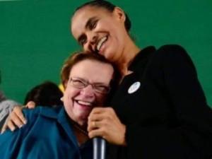 A deputada federal Luiza Erundina e a presidenciável Marina Silva (PSB). (Foto: Divulgação)