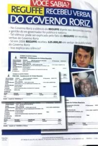 Panfleto distribuído pela campanha de Geraldo Magela (PT-DF) ao Senado.