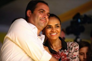 O candidato a governador Paulo Câmara (PSB-PE) e a presidenciável Marina Silva (PSB). Foto: Divulgação
