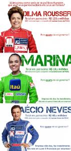 Meme produzido pelo PSOL, sobre os presidenciáveis. (Foto: Reprodução / Facebook)