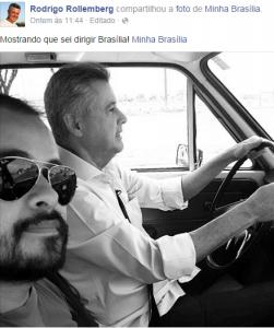 Publicação do candidato ao governo do Distrito Federal Rodrigo Rollemberg (PSB). Foto: Reprodução/ Facebook.