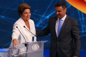 Dilma e Aécio, no debate da Band (Foto: Marcos Bezerra/Futura Press)