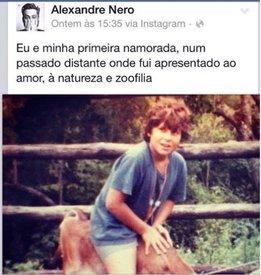 Publicação do ator Alexandre Nero foi alvo de críticas. (Foto: Reprodução)