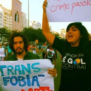 Renata Tenório, na época ainda filiada ao PSB, ao lado do deputado federal Jean Wyllys (PSOL-RJ). Foto: Acervo Pessoal
