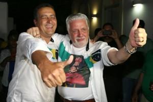 O governador eleito, Rui Costa (PT-BA), e seu antecessor, Jaques Wagner (PT-BA). Foto: Divulgação