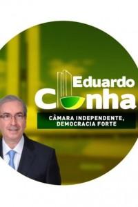 Material da campanha de Eduardo Cunha (PMDB-RJ) à presidência da Câmara.