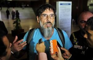 O cantor Lobão em manifestação na Câmara dos Deputados. (Foto: Agência Câmara)