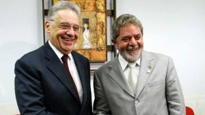 Os ex-presidentes da República Fernando Henrique Cardoso (PSDB) e Luiz Inácio Lula da Silva (PT). Foto: Ricardo Stuckert / PR