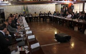 Dilma comanda a primeira reunião ministerial do novo governo (Foto: Alan Sampaio/iG Brasília)