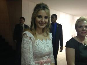 Marcela Temer na posse presidencial de 2014.