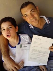 Valdir Francisco Vaz e o filho Lorenzo. (Foto: Divulgação)