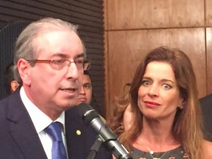 O presidente da Câmara, Eduardo Cunha (PMDB-RJ), e sua mulher, Cláudia Cruz. (foto: Luciana Lima)