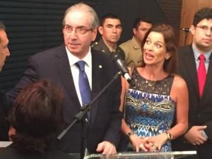 A jornalista acompanhou o marido em uma cerimônia na Câmara, em agosto deste ano.