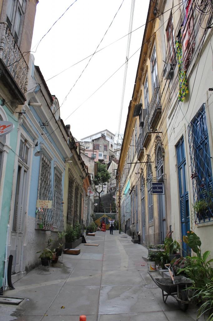 Vista de uma rua do Morro da Conceição