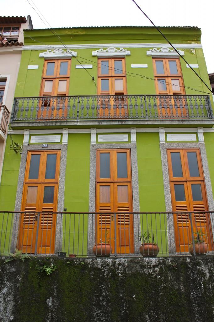 Fachada de uma casa no Morro da Conceição