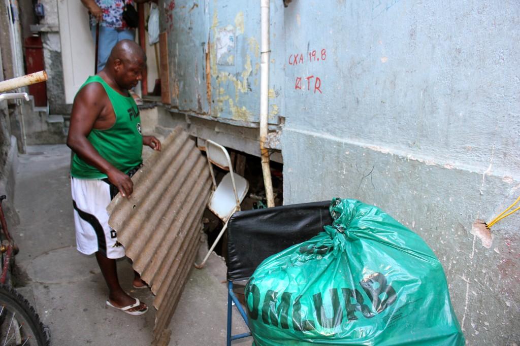José Mário Hilário, presidente da associação de moradores da favela Santa Marta