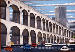 Os Arcos da Lapa retratados pelo pintor Agostinho (foto: divulgação)