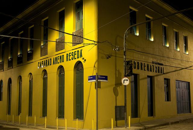 Fachada do Ameno Resedá, o casarão reformado e transformado em casa de shows (foto: divulgação/Kita Pedroza)