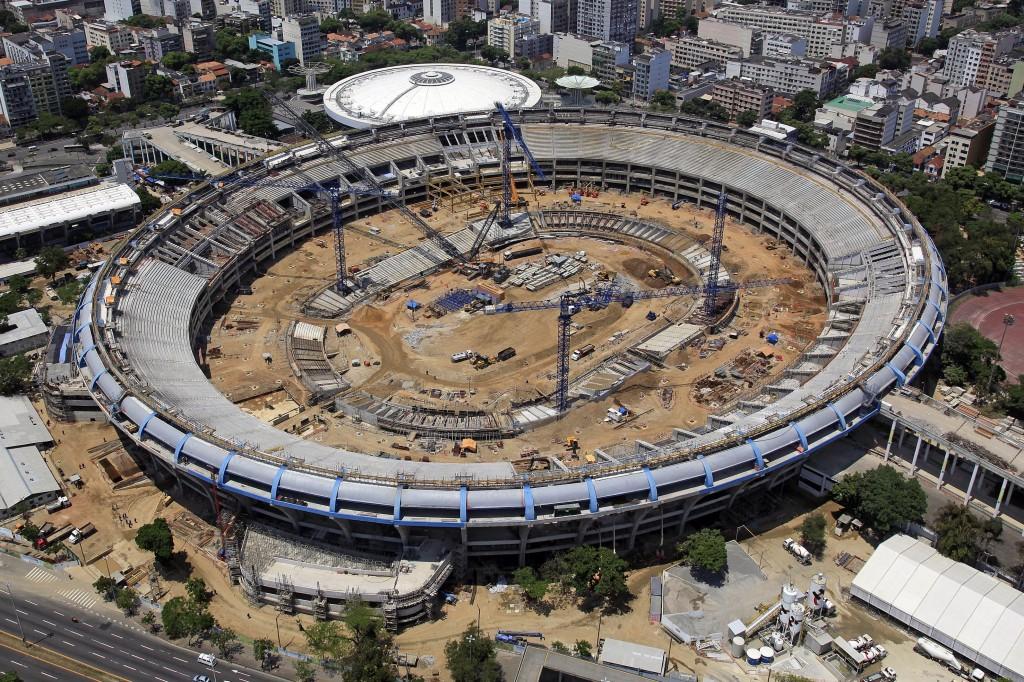 Vista aérea da obra de reforma do Maracanã (Foto: divulgação/Angular Fotografias Aéreas)