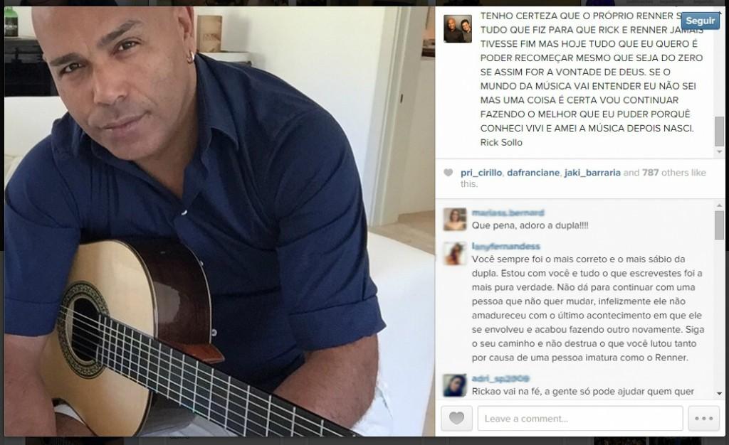Rick anuncia separação (Foto: Reprodução/Instagram)