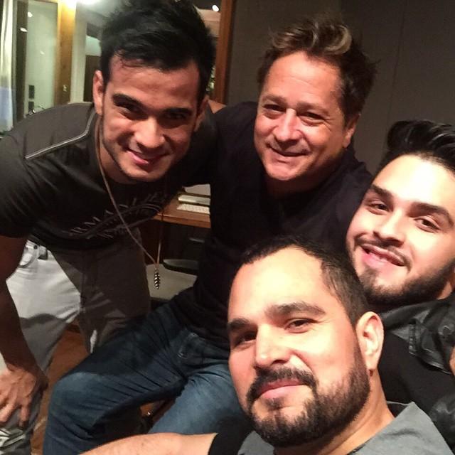 Dablio e Phillipe com Luciano e Leonardo (Foto: Reprodução/Instagram)