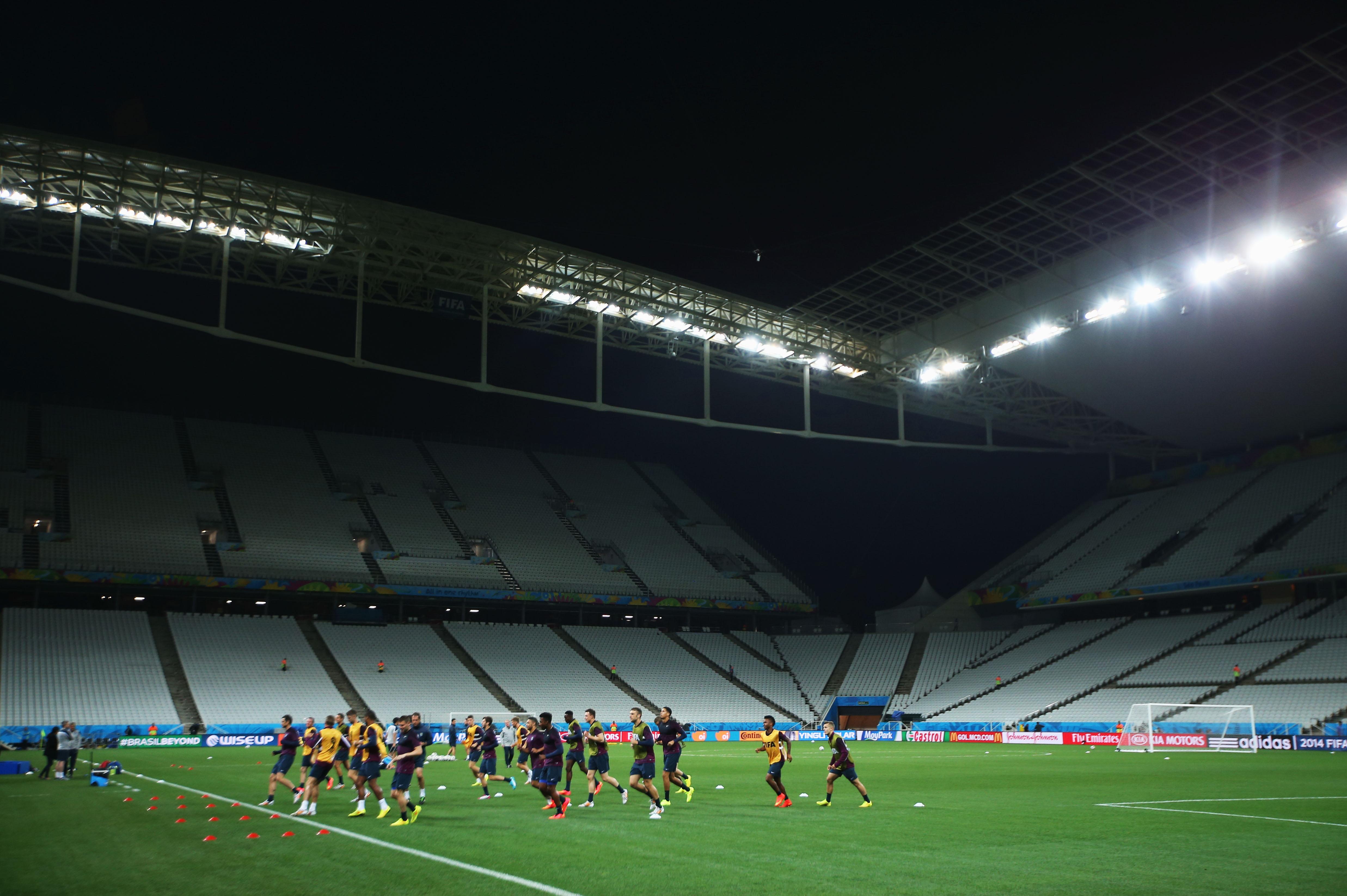 Itaquerão, palco do jogo entre Uruguai e Inglaterra (Foto: Getty Images)