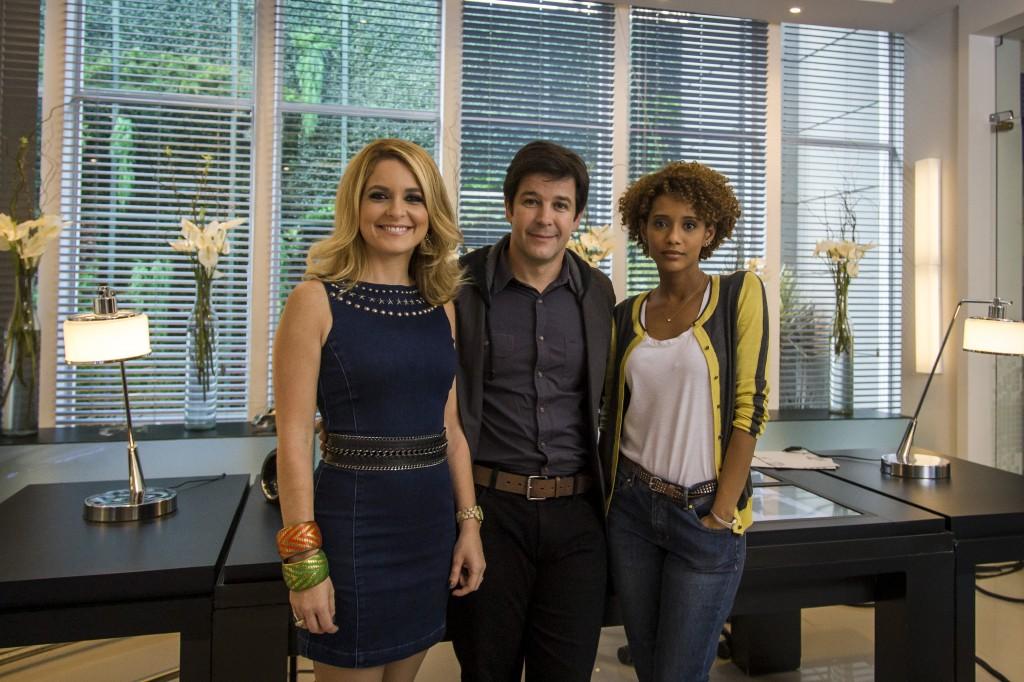"""O trio de """"Geração Brasil"""". Crédito: Globo/Paulo Belote"""