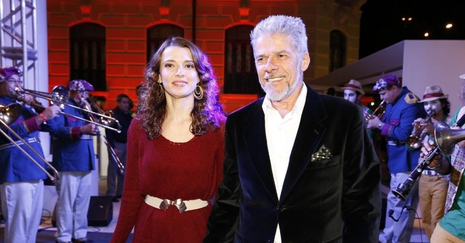 Julia e José: parceiros de novela. Crédito: AgNews