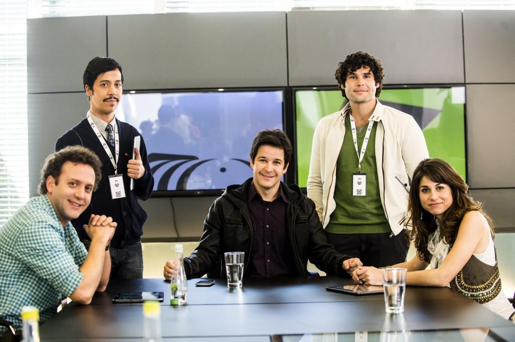 Manu e Arthur, os novos queridinhos de Jonas. Globo / João Miguel Junior